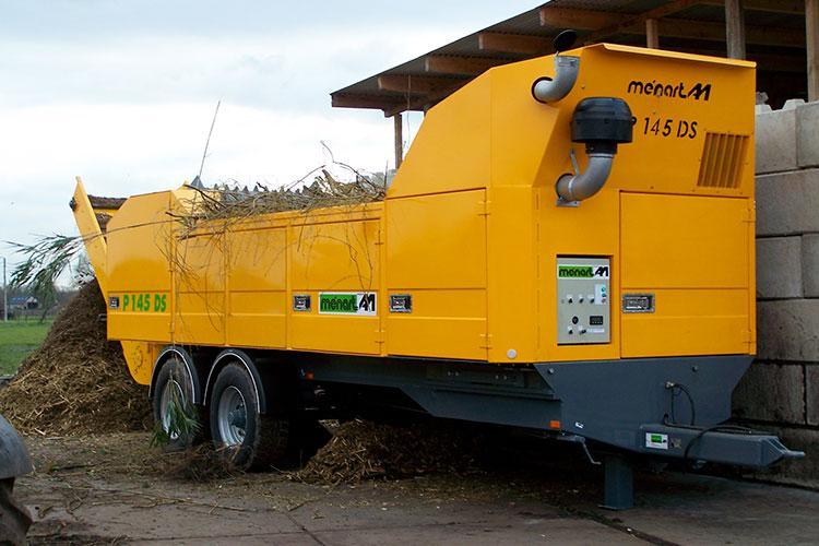 VEGUEMAT - Compostage & recyclage - Broyeur agricole à déchets verts - MENART P145 DS