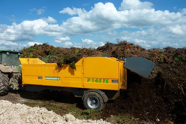 VEGUEMAT - Compostage & recyclage - Broyeur agricole à déchets verts - MENART P145 TS