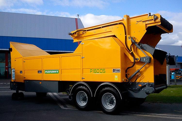VEGUEMAT - Compostage & recyclage - Broyeur agricole à déchets verts - MENART P160 DS