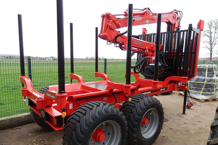 VEGUEMAT - Forestier - Remorque forestière Agriduarte RF12 avec pneus de 500