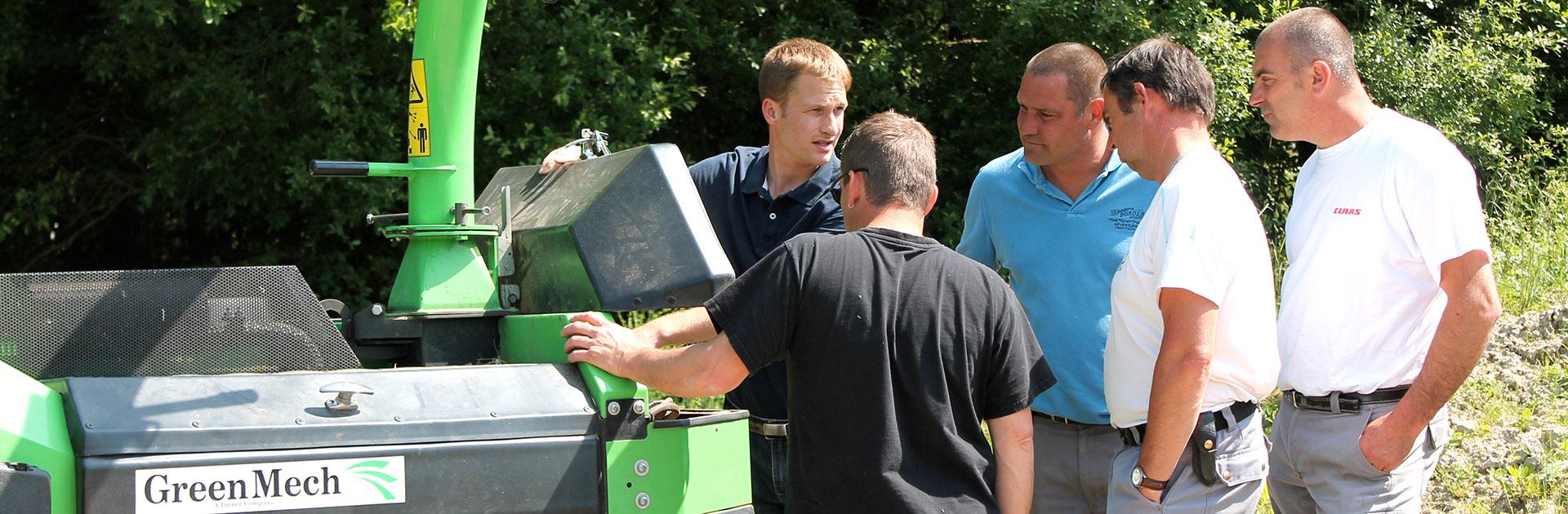 VEGUEMAT - Démonstrations de matériel - Broyeurs de branches et de végétaux GreenMech